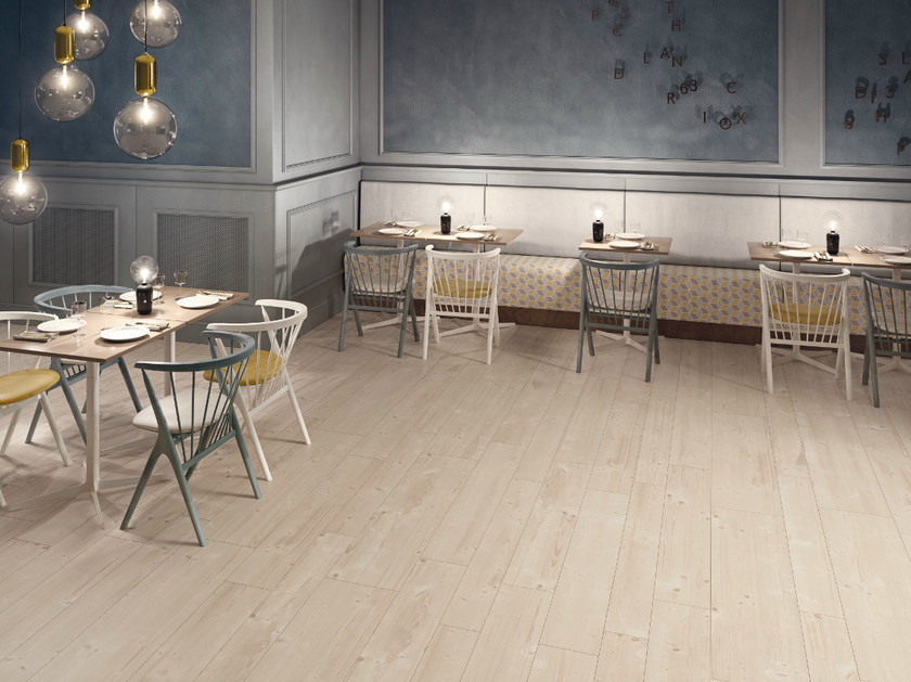 Ecological porcelain stoneware flooring with wood effect PRIME BEIGE - CERAMICHE KEOPE