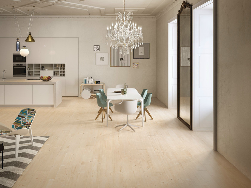 Ecological porcelain stoneware flooring with wood effect PRIME IVORY - CERAMICHE KEOPE