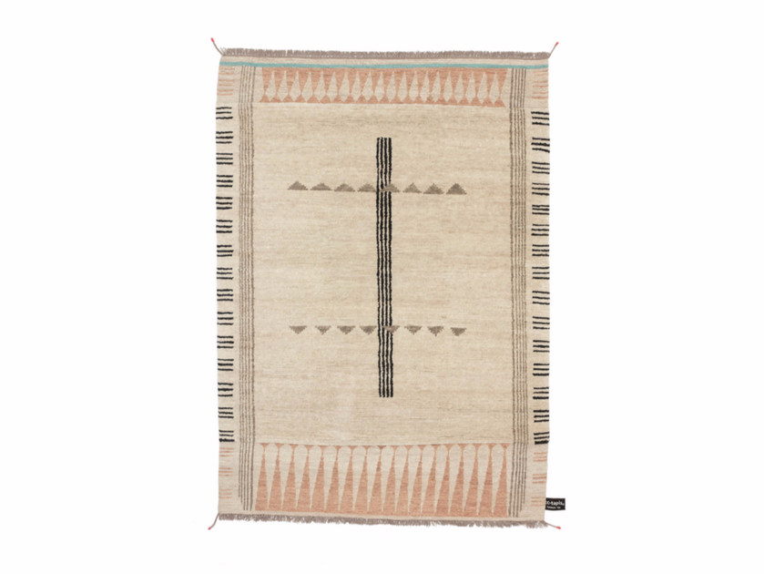 Handmade rectangular rug PRIMITIVE WEAVE 1 - cc-tapis ®
