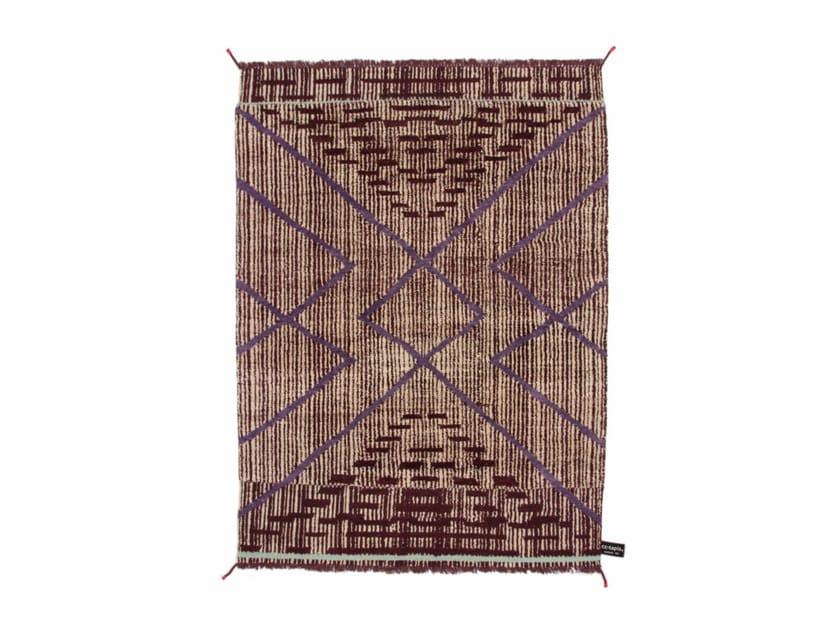 Handmade rectangular rug PRIMITIVE WEAVE 2 - cc-tapis ®