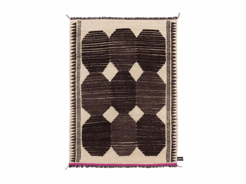 Handmade rectangular rug PRIMITIVE WEAVE 3 - cc-tapis ®
