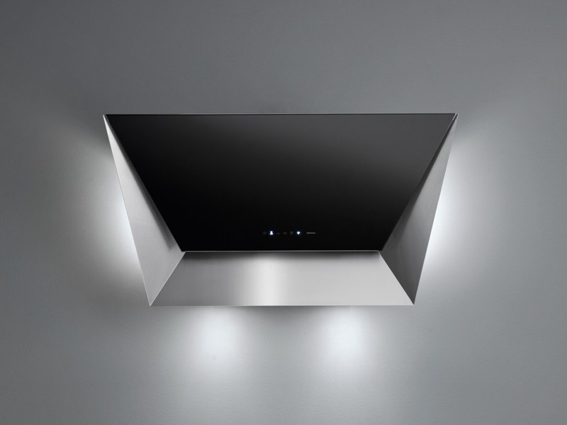 Wall-mounted tempered glass cooker hood PRISMA - Falmec