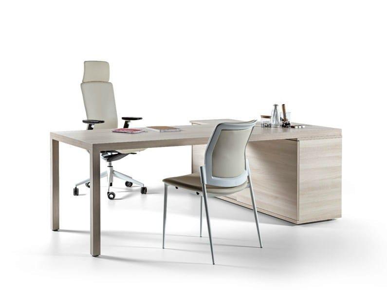 L-shaped sectional workstation desk PRISMA | L-shaped office desk by ACTIU