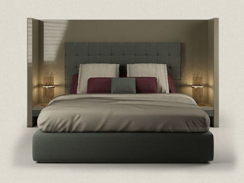 Double bed with high headboard PRIVATE - Paolo Castelli