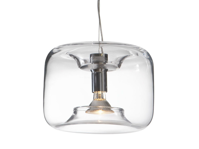 glass pendant lamp bonbonne by roset italia design jean