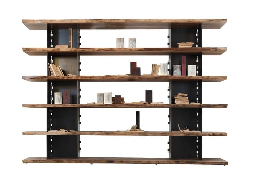 Open wooden bookcase BRIE | Bookcase - Riva 1920
