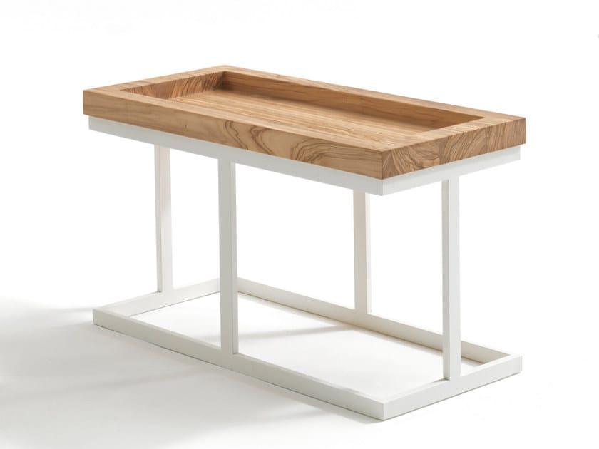 Low rectangular solid wood coffee table ZOE | Rectangular coffee table - Riva 1920