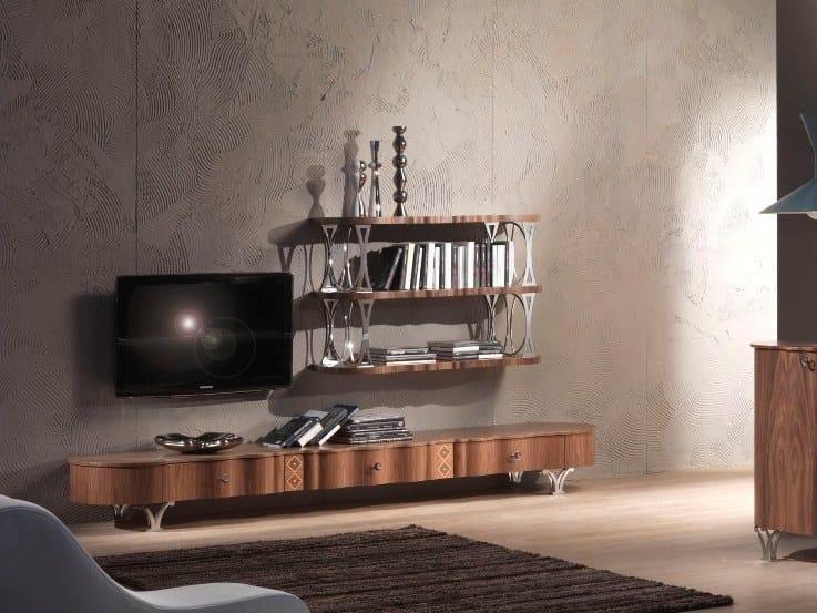 Low walnut TV cabinet CARPANELLI CONTEMPORARY 2013 | TV cabinet - Carpanelli Contemporary