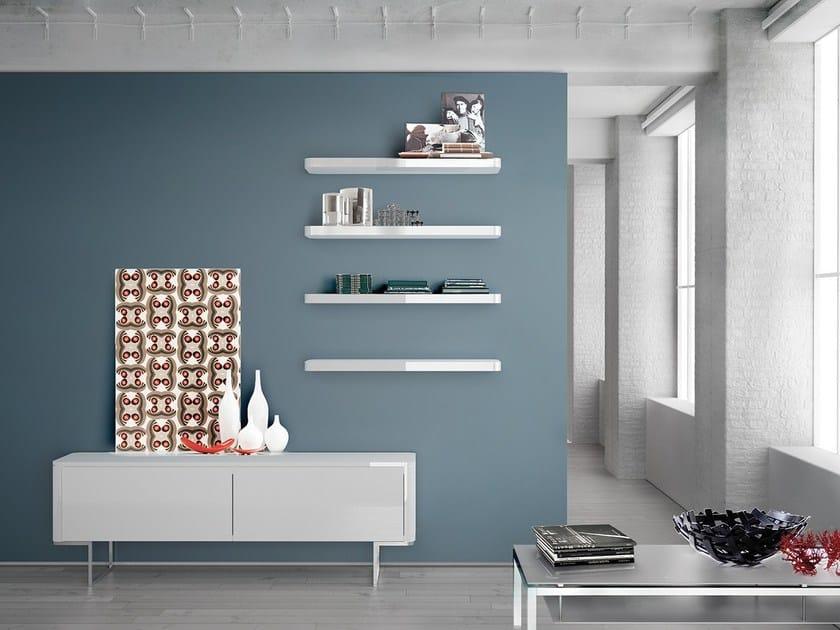 Wall-mounted lacquered storage wall LALTROGIORNO 834 - TUMIDEI