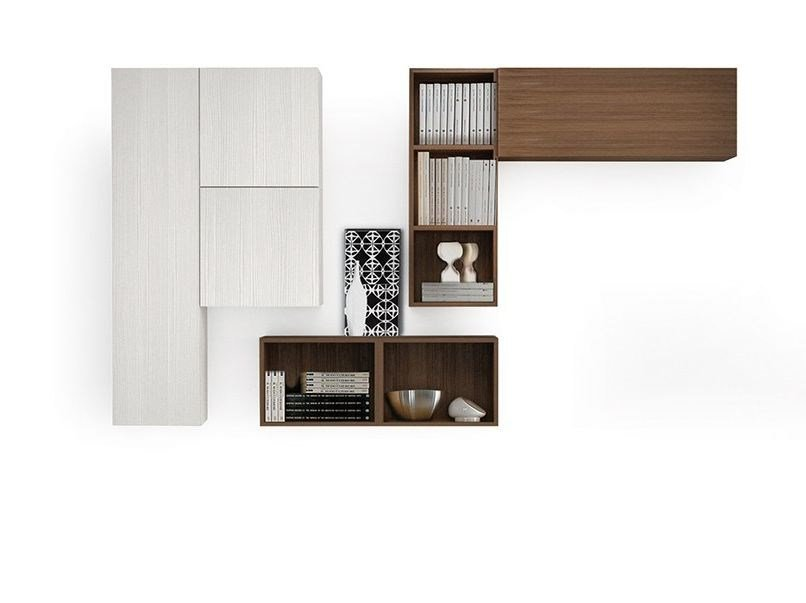 Wall-mounted storage wall LALTROGIORNO 851 by TUMIDEI