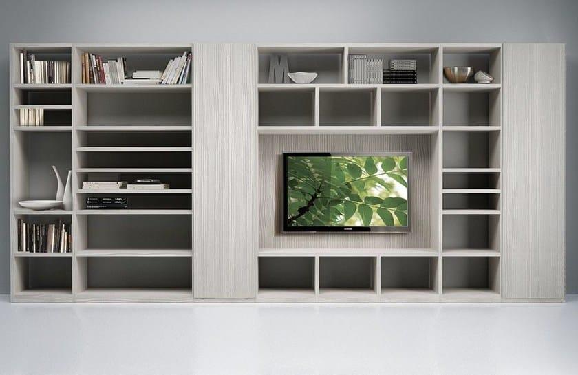 Wall-mounted TV wall system LALTROGIORNO 872 - TUMIDEI