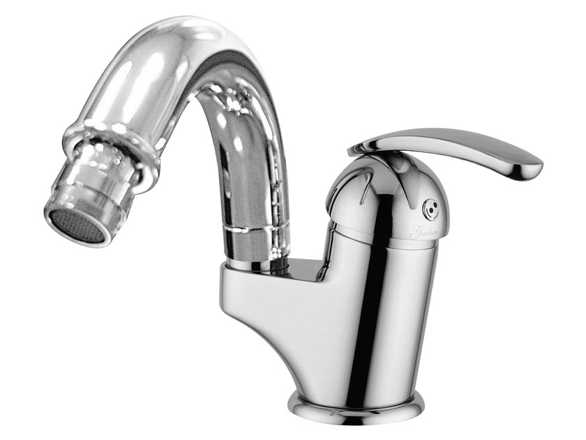 Single handle bidet mixer with swivel spout KOMETA | Bidet mixer by Rubinetteria Giulini