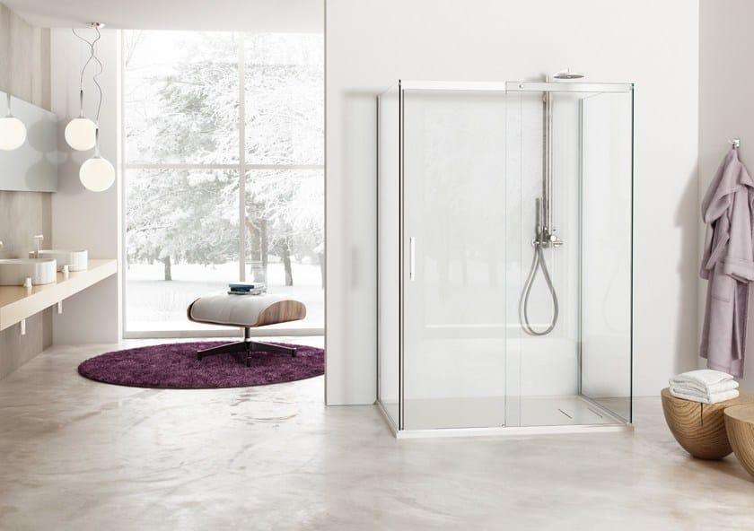 2 places shower cabin with sliding door SOLODOCCIA SLIDING A1S - MEGIUS