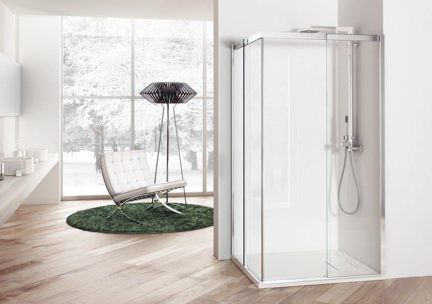 Box doccia angolare con porte scorrevoli solodoccia scorrevole a megius - Porte scorrevoli ad angolo ...