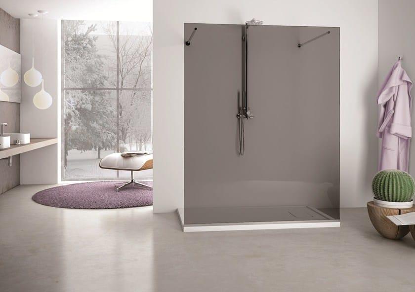 Glass shower wall panel SOLODOCCIA SEPARÈ SP0 by MEGIUS