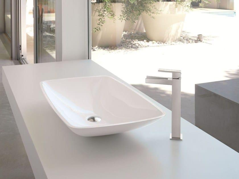 Single handle 1 hole washbasin mixer without waste ERGO OPEN | Single handle washbasin mixer - NEWFORM
