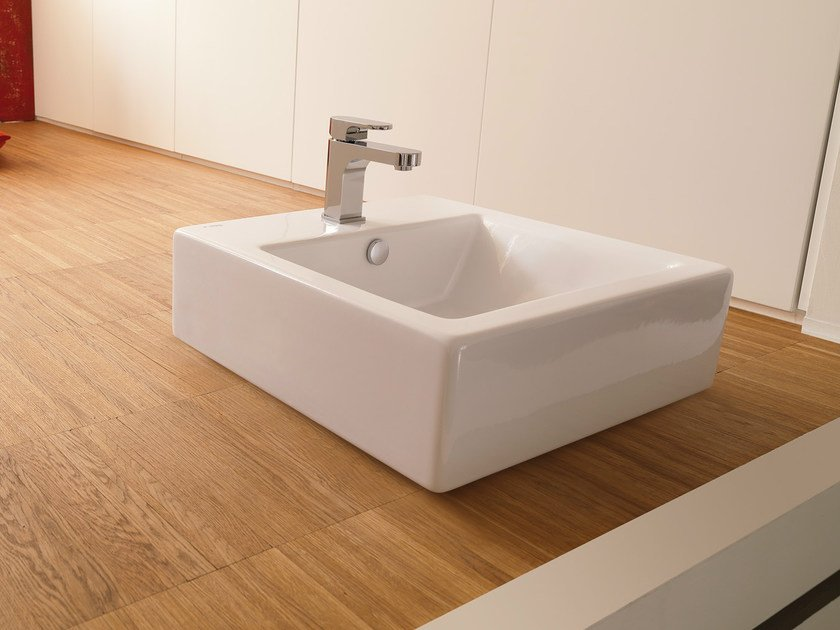 Countertop square single washbasin WASHBASINS | Square washbasin - NEWFORM
