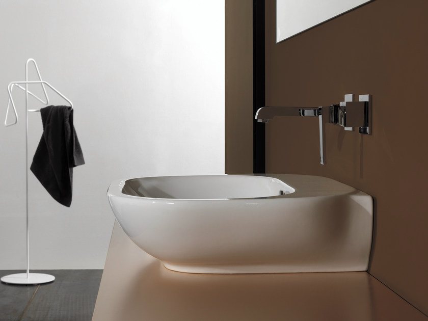 Countertop rectangular single washbasin WASHBASINS | Rectangular washbasin - NEWFORM