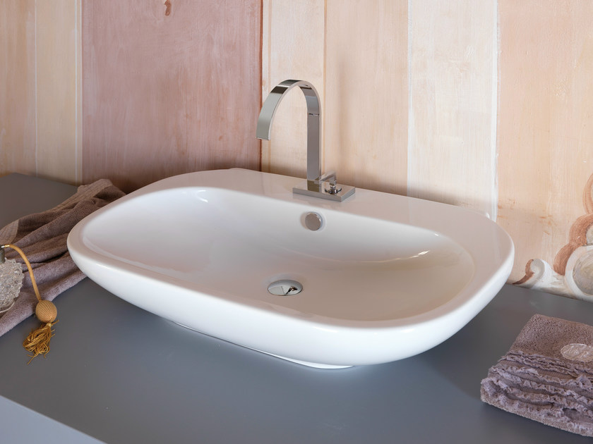 Countertop rectangular single washbasin WASHBASINS | Single washbasin by newform