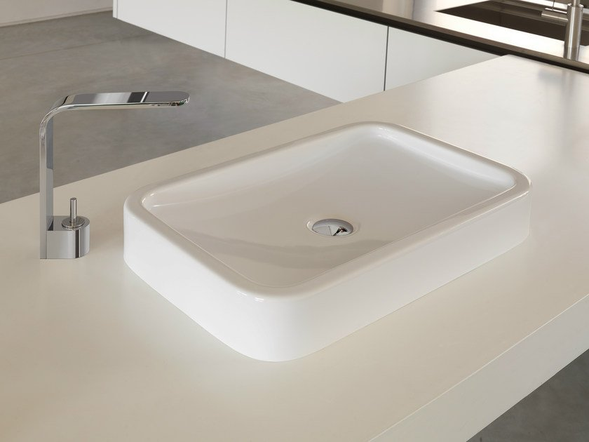 Countertop rectangular single washbasin WASHBASINS | Countertop washbasin by NEWFORM