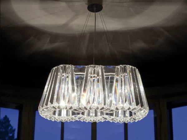 Indirect light glass chandelier GLITTERS | Chandelier by Lasvit