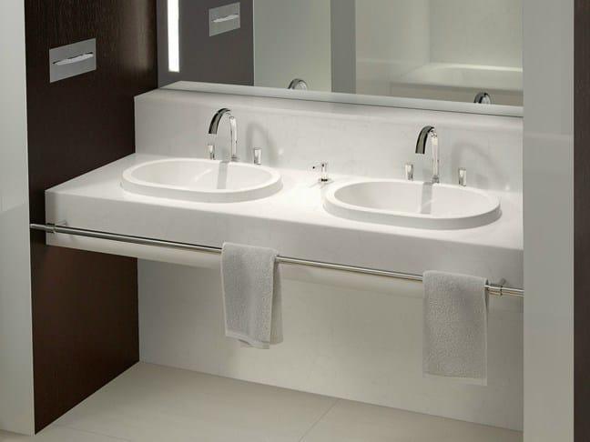 lavabo bagno da incasso: lavabo da incasso soprapiano rettangolare ... - Lavabo Da Incasso Per Bagno