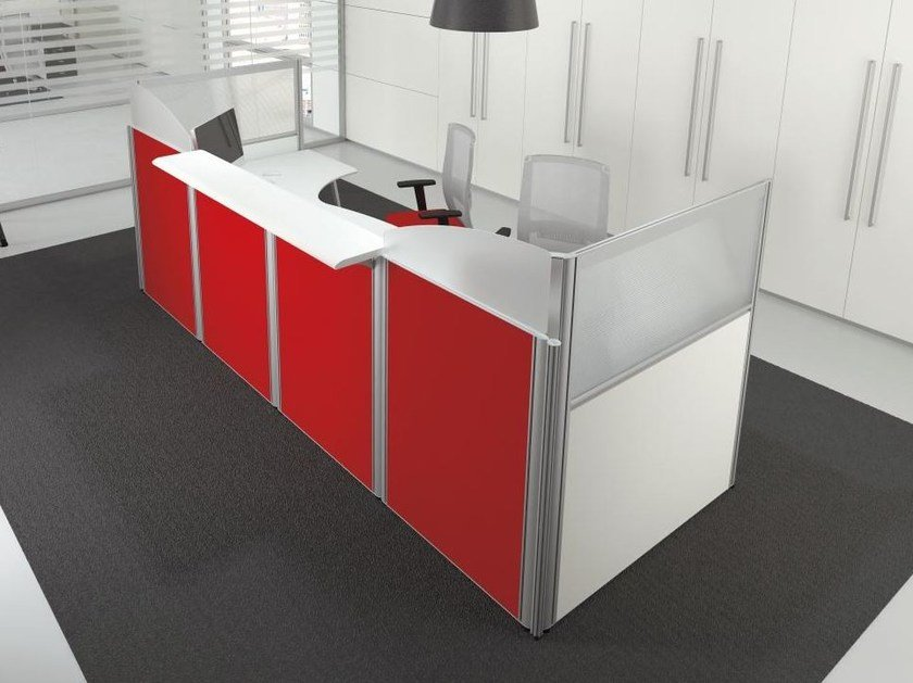 Banco per reception collezione format by las mobili for Mobili per reception
