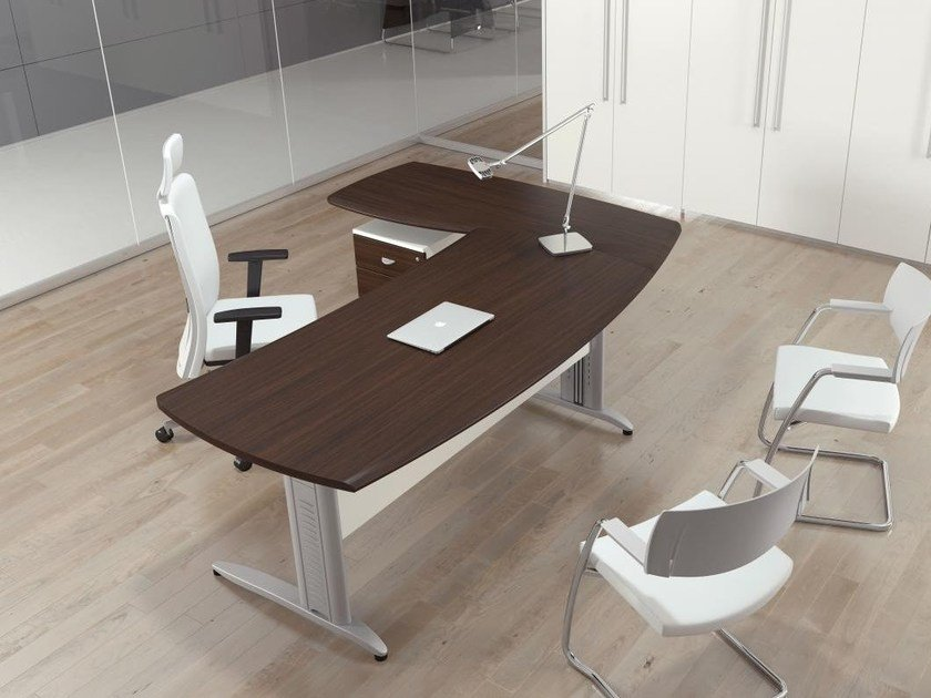 Height-adjustable executive desk with drawers FORMAT | Executive desk - Las Mobili