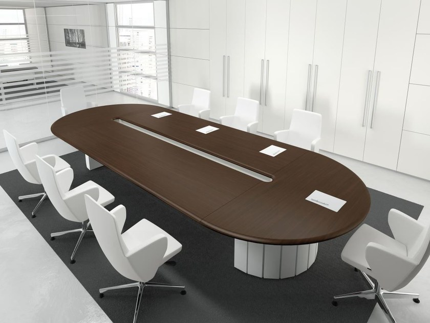 Oval wooden meeting table FORMAT | Oval meeting table - Las Mobili