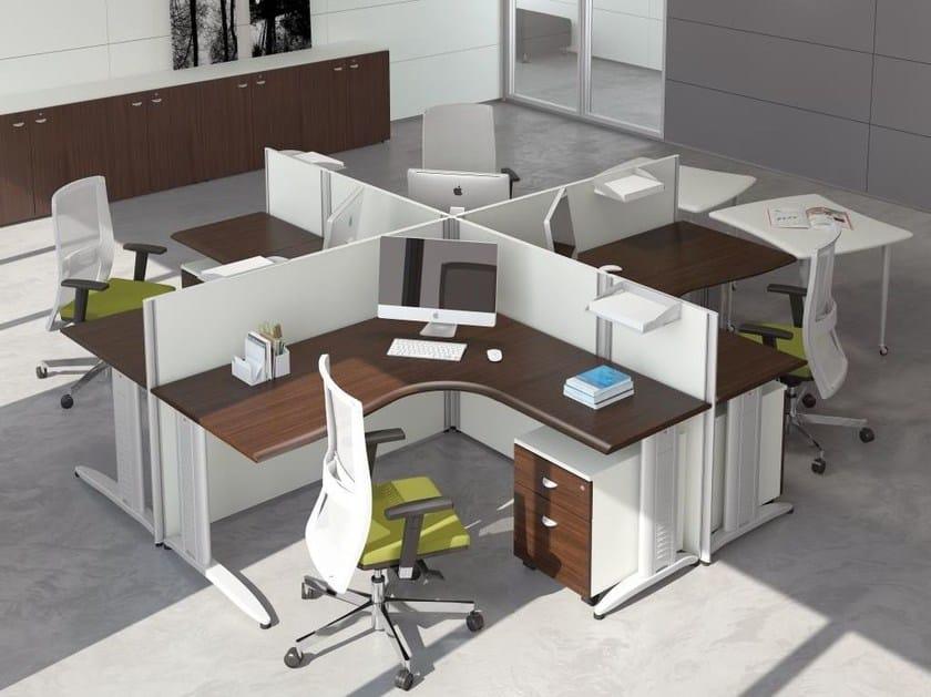 Multiple office workstation FORMAT | Multiple office workstation - Las Mobili