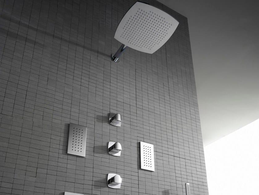 4 hole shower tap with overhead shower TANGO | Shower tap - ZAZZERI
