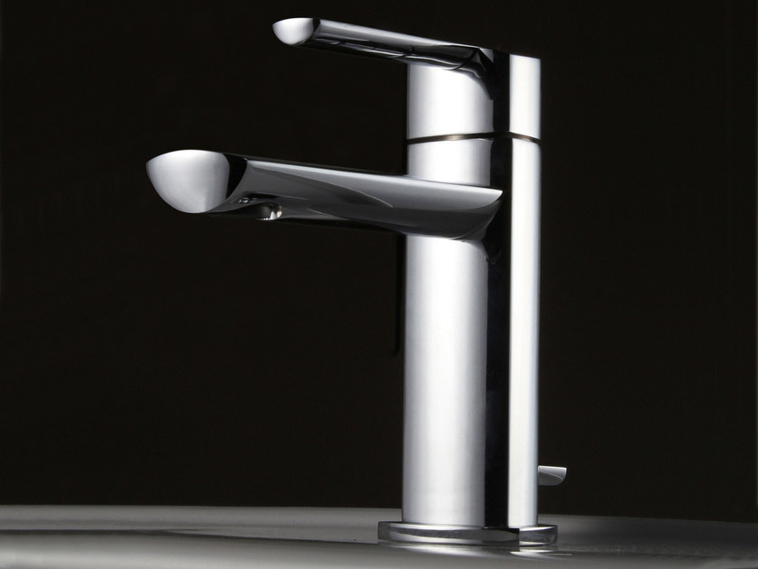 Countertop steel washbasin mixer TANGO | Washbasin mixer - ZAZZERI