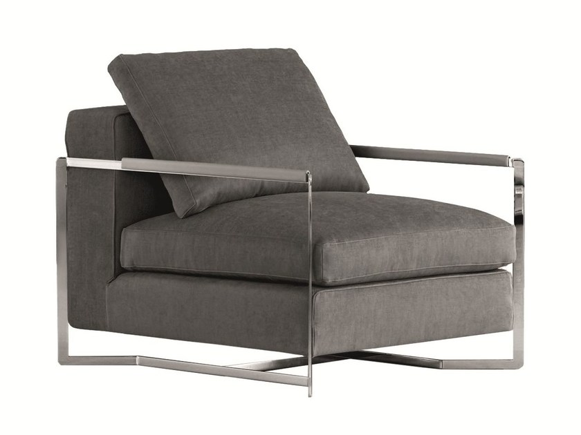 Ergonomic upholstered fabric armchair with armrests PORTFOLIO | Armchair by MOLTENI & C.