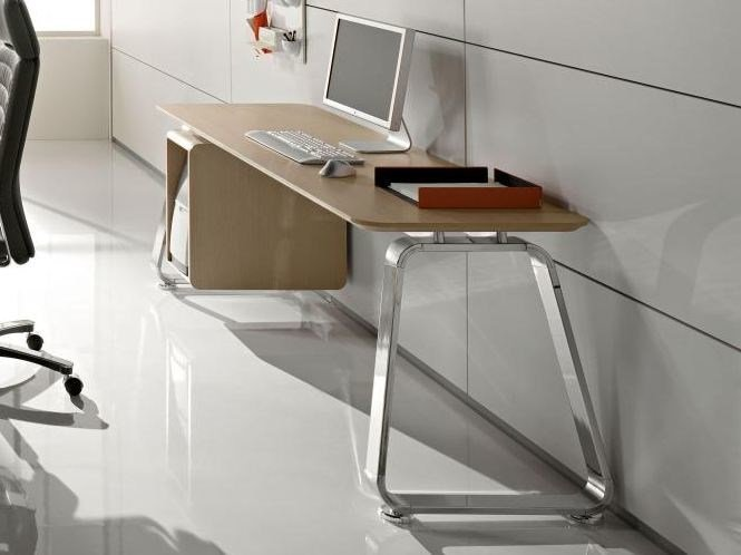 Rectangular workstation desk with drawers SEVENTIES | Office desk - Las Mobili