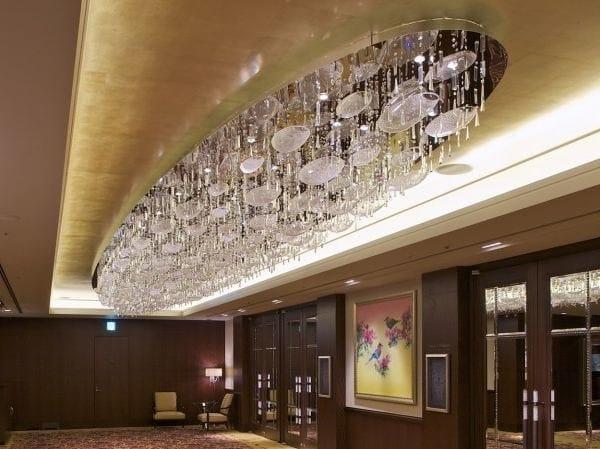 Indirect light glass chandelier THE ARK by Lasvit