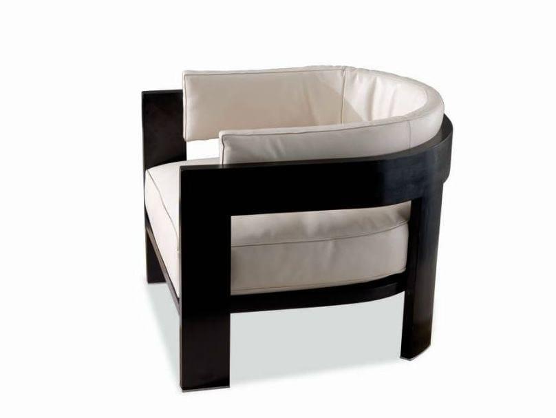 Armchair WARHOL BLACK LAC. by Minotti