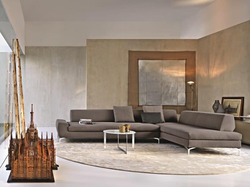 Corner sectional fabric sofa TEA TIME | Corner sofa - MOLTENI & C.