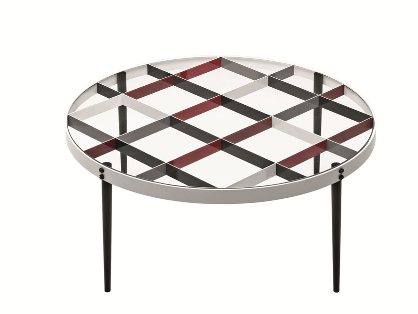 Round crystal coffee table D.555.1 | Coffee table - MOLTENI & C.