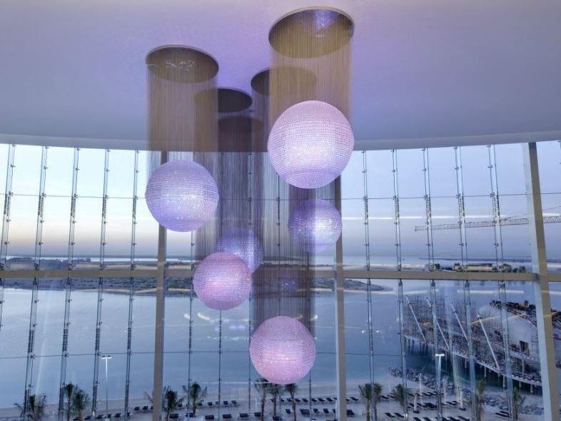 Indirect light crystal chandelier DANCING QUEEN by Lasvit
