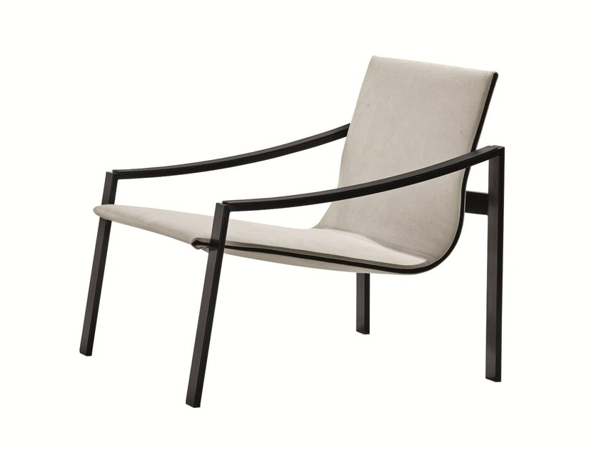 Metal armchair with armrests ALLURE - MOLTENI & C.