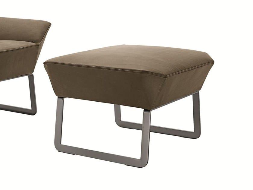 Upholstered fabric pouf TIGHT | Pouf - MOLTENI & C.