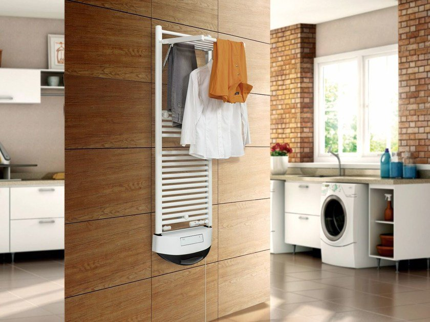 Dual energy wall-mounted towel warmer DRYER ELECTRIC - DELTACALOR