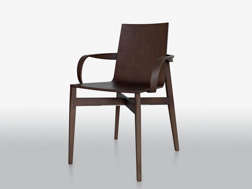 Wooden chair with armrests WHO | Chair with armrests - MOLTENI & C.