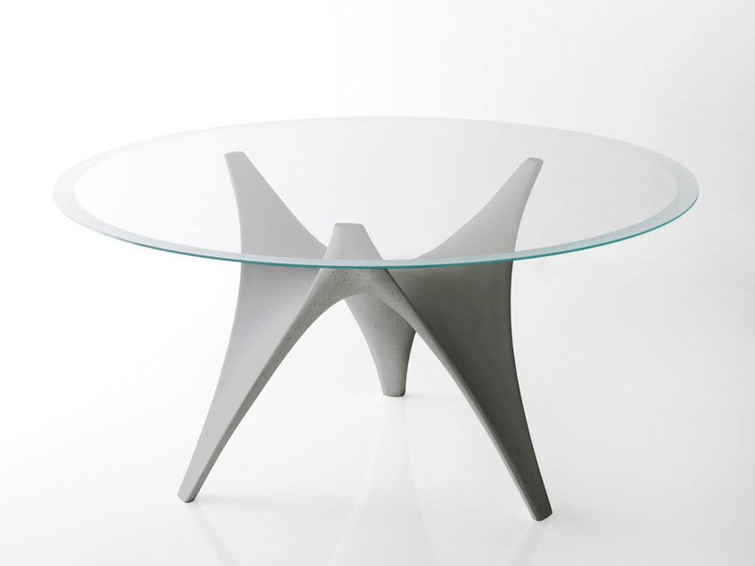 Round glass table ARC | Round table - MOLTENI & C.