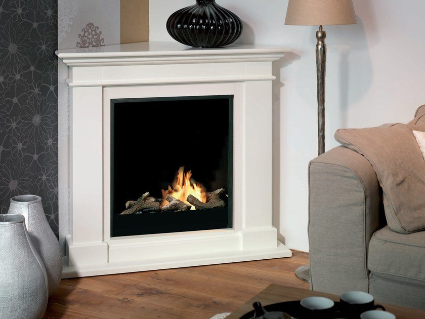 Bioethanol wall-mounted corner fireplace KOS CORNER by BRITISH FIRES