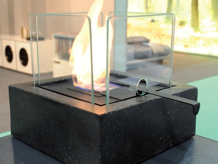 Outdoor table-top bioethanol fireplace ENNA - BRITISH FIRES