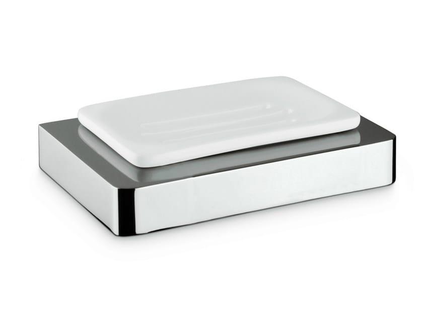 Countertop ceramic soap dish X-SENSE ACCESSORIES | Soap dish by NEWFORM