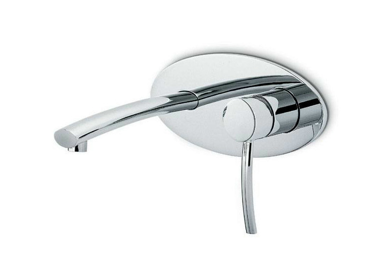 Wall-mounted single handle washbasin mixer with plate EL-X | Washbasin mixer - NEWFORM