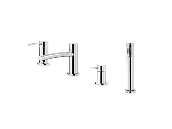4 hole bathtub set with diverter with hand shower EL-X | 4 hole bathtub set - NEWFORM