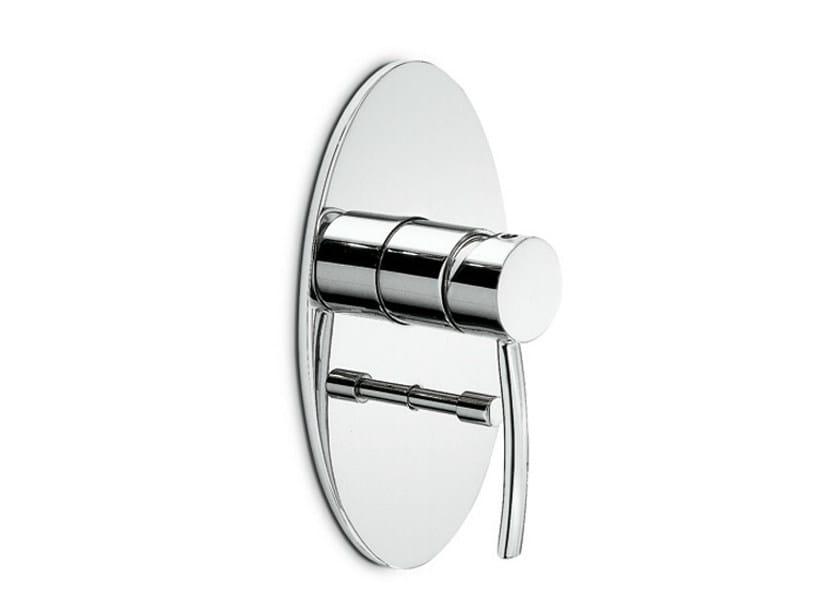 Single handle bathtub mixer with plate EL-X | Bathtub mixer with plate - NEWFORM